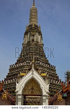 Asia  Thailand    Bangkok Sunny  Temple Abstract    Sky      And  Colors