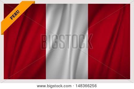 National flag of Peru - waving edition