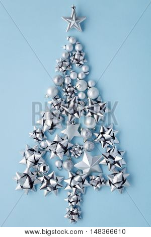 Christmas tree of glitter bows and balls,Christmas decoration