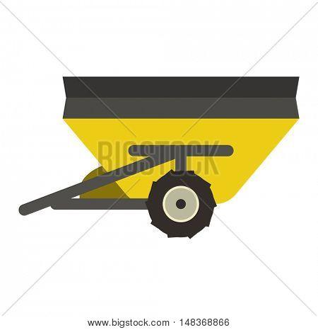 Farm trailer vector illustration.