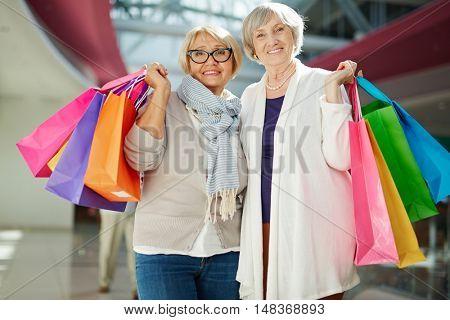Satisfied shopaholics