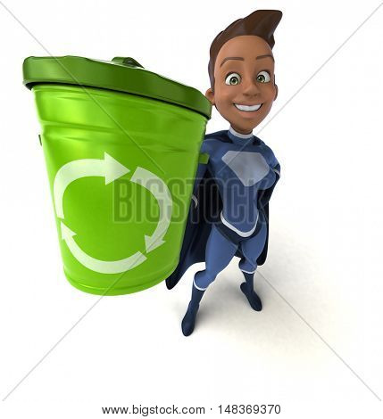 Super woman - 3D Illustration