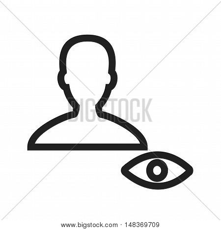 View, male, profile icon vector image. Can also be used for user interface. Suitable for mobile apps, web apps and print media.
