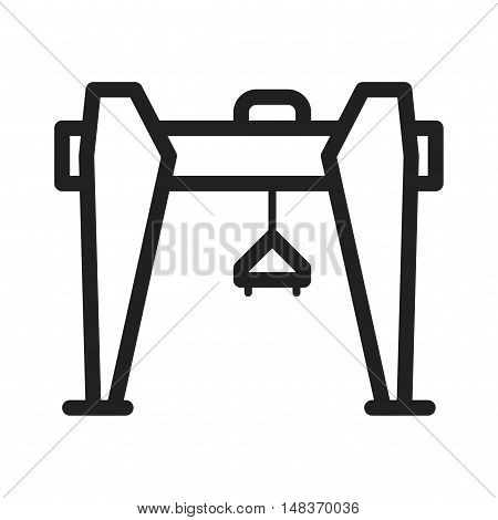 Crane, construction, building icon vector image. Can also be used for Industrial Process. Suitable for mobile apps, web apps and print media.