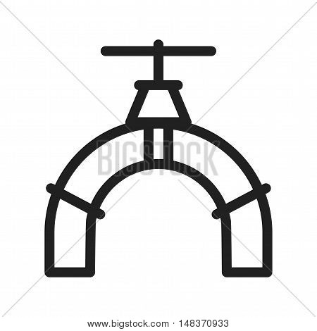 Valve, industrial, pipe icon vector image. Can also be used for Industrial Process. Suitable for mobile apps, web apps and print media.
