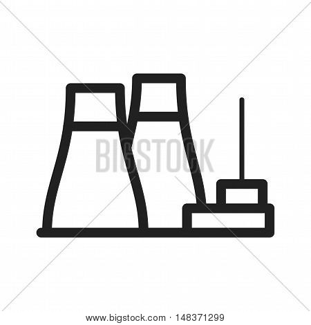 Nuclear, power, plant icon vector image. Can also be used for industrial process. Suitable for web apps, mobile apps and print media.