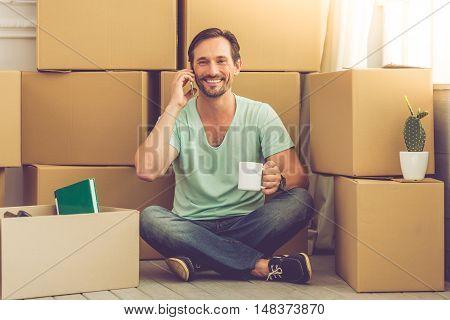 Handsome Man Moving