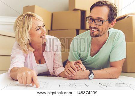 Beautiful Mature Couple Moving