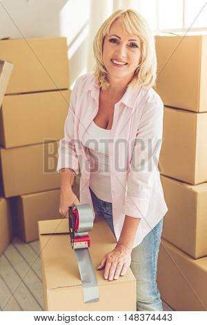 Beautiful Woman Moving