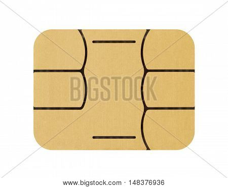 SIM card chip on a white background