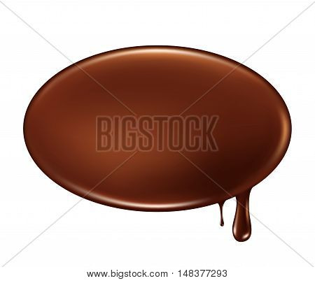 Melted chocolate dripping . Vector illustration .