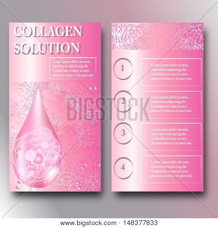 Hiqh quality original template for beauty and Spa booklet. Collagen
