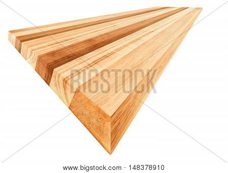 perspective muti earth tone colour Oak wood board isolate