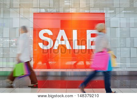 Sale in shopping center