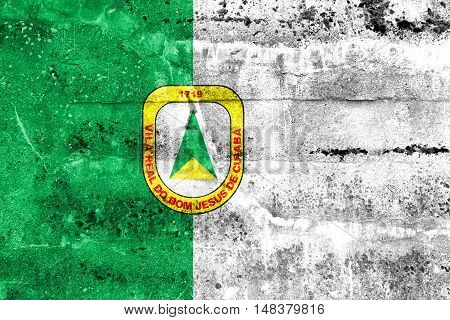 Flag Of Cuiaba, Mato Grosso, Brazil, Painted On Dirty Wall