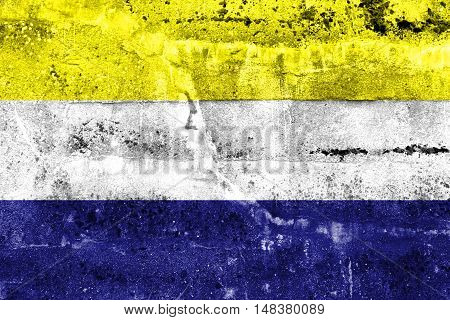 Flag Of Daule, Ecuador, Painted On Dirty Wall
