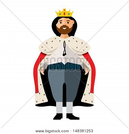 Man in the royal costume.. Isolated on a white background