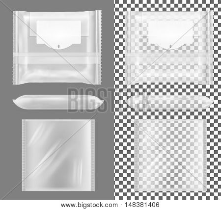 Transparent Package With Flap For Snacks, Food, Chips, Cheese And Spices