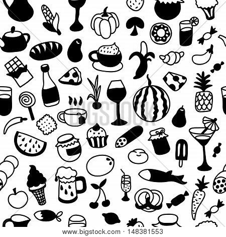 Pattern With Icons Of Different Types Of Cookware.