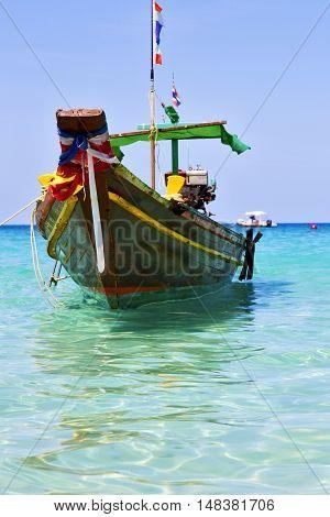 Boat Prow Asia  The  Kho Tao Bay Isle