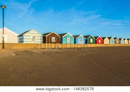 Row Of Colourful Beach Huts