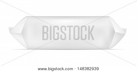 White Blank Foil Food Snack Pack For Chips, Candy And Other Products