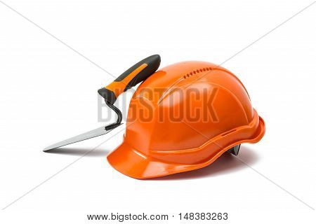 Safety helmet tool isolated on white background