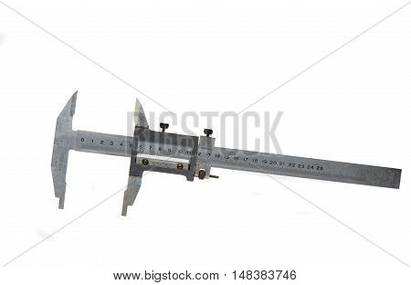 caliper inch, instrument on a white background