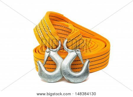 tow rope cable, canvas on a white background
