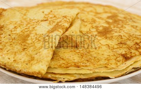 Pancakes On Plate