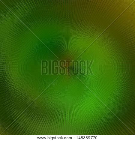 art abstract graphic spherical blurred monochrome background in green color; geometric pattern
