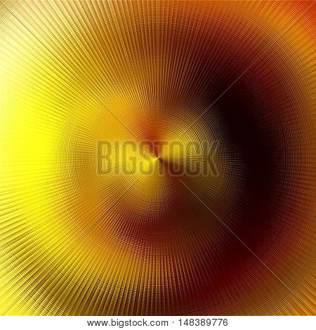 art abstract graphic spherical blurred colored background in gold, orange and brown colors; geometric pattern