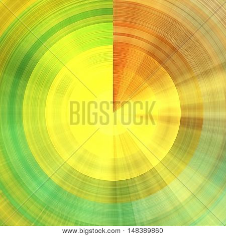 art abstract graphic spherical grunge colored background in green, yellow and orange colors; geometric pattern
