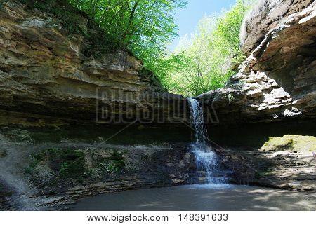 Gypsy Pit waterfall in the Saharna Moldova