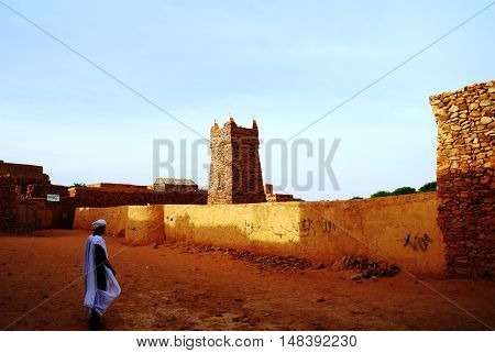Chinguetti mosque one of the symbols of Mauritania