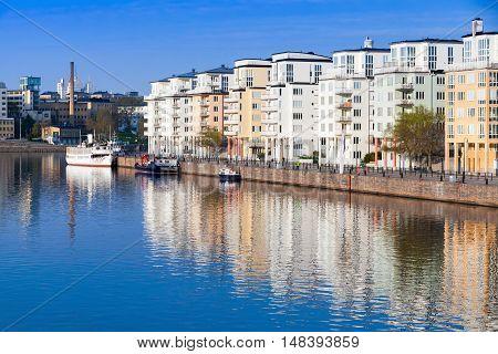 Stockholm. Sodermalm District Cityscape