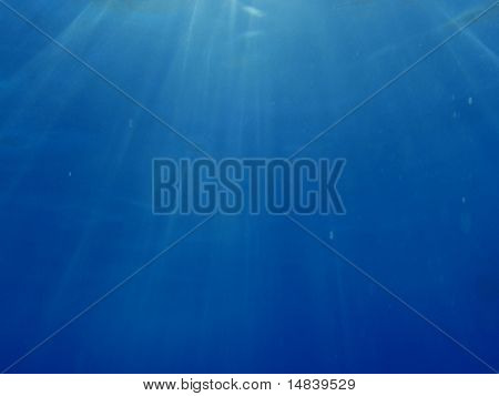 blue underwater background with water air bubbles