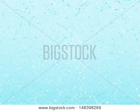 Blue abstract mosaic background with texture and polygons.