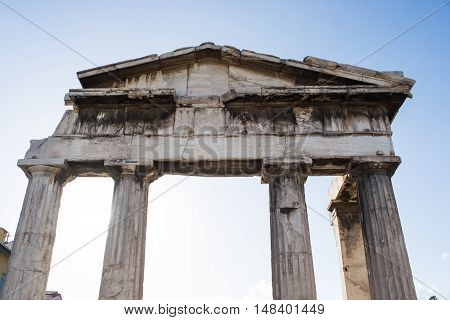 temple in the Roman Agora in Athens Greece