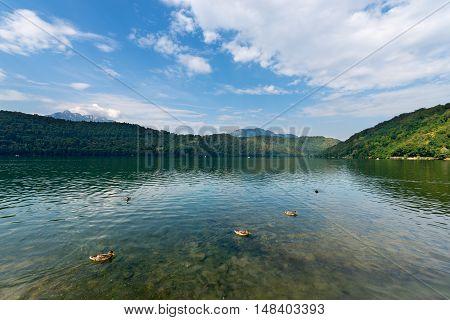 Lago di Levico (Levico Lake) in Valsugana Levico Terme Trentino Alto Adige Italy Europe