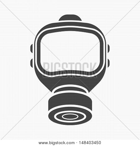 Fire gas mask icon black style. Single silhouette fire equipment icon from the big fire Department simple.