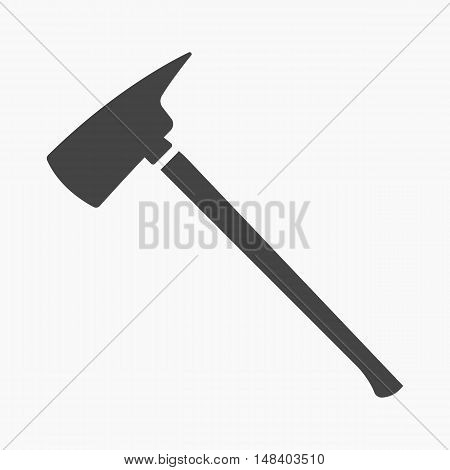 Fire axe icon black style. Single silhouette fire equipment icon from the big fire Department simple.