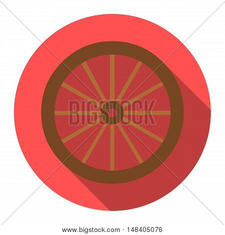 Cart-wheel icon design. Singe western icon from the wild west flat.