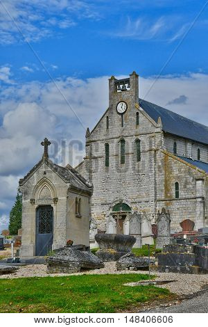 Jumieges France - june 22 2016 : the Saint Valentin church