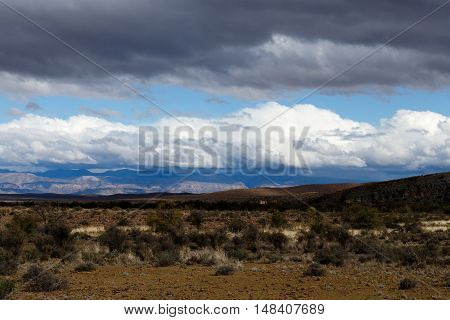 The Beautiful Is Empty Landscape Of The Karoo.