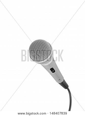 Studio photography microphone . isolated on white background.