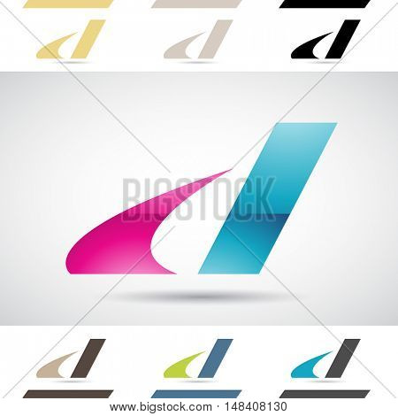 Design Concept of Colorful Stock Icons and Shapes of Letter D, Illustration