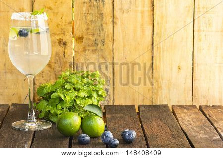 Drink Detoxification,blueberry and lemonade water.Fruit and health.Close up.001