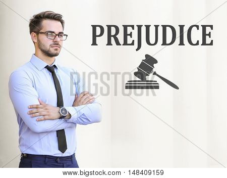 PREJUDICE. Handsome young lawyer