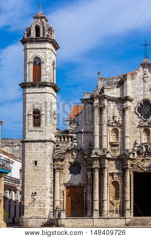 Havana Cathedral And Dog, Cuba